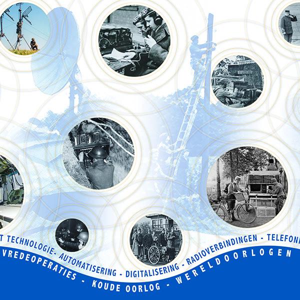 Uitsnede fotowand Historische Collectie Verbindingsdienst