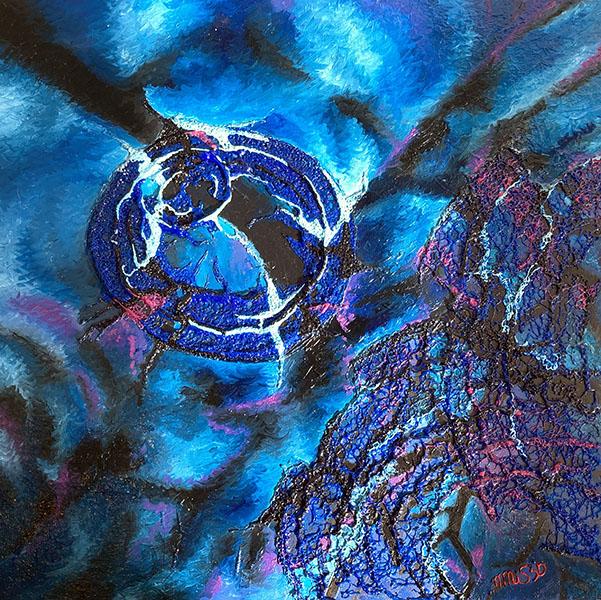 Kunstwerk Cirkels in het water
